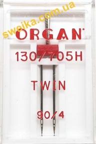 Подвійна голка ORGAN 130/705H TWIN №90/4