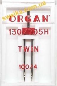 Подвійна голка ORGAN 130/705H TWIN №100/4