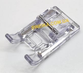 Лапка для декоративных, сатиновых строчек прозрачная