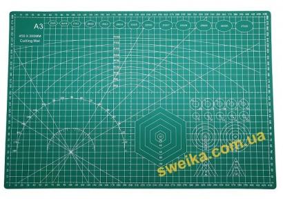 Мат для розкрою тканини А3 двосторонній 45*30см